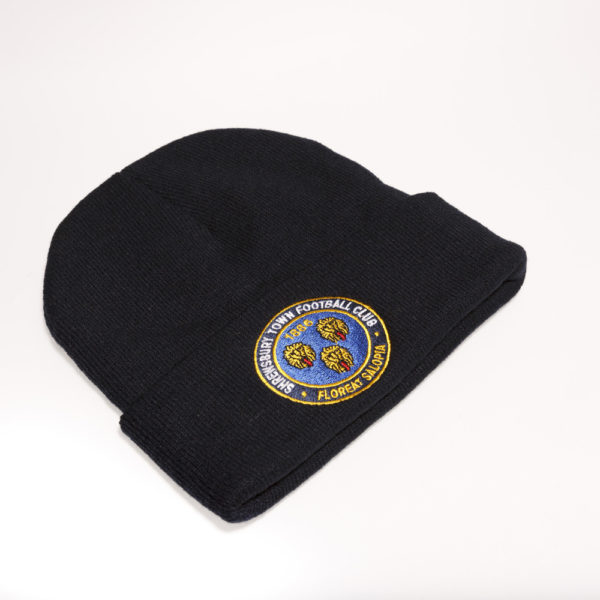 Dark Navy Crested Beanie