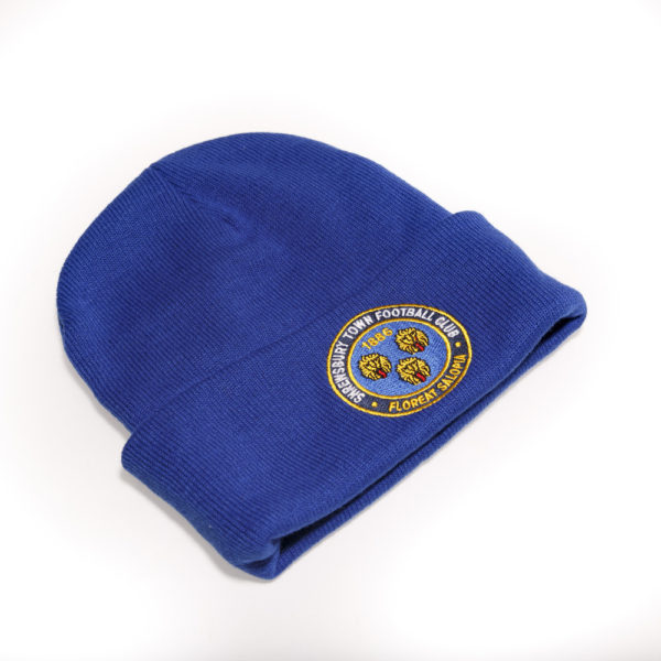 Royal Blue Crested Beanie